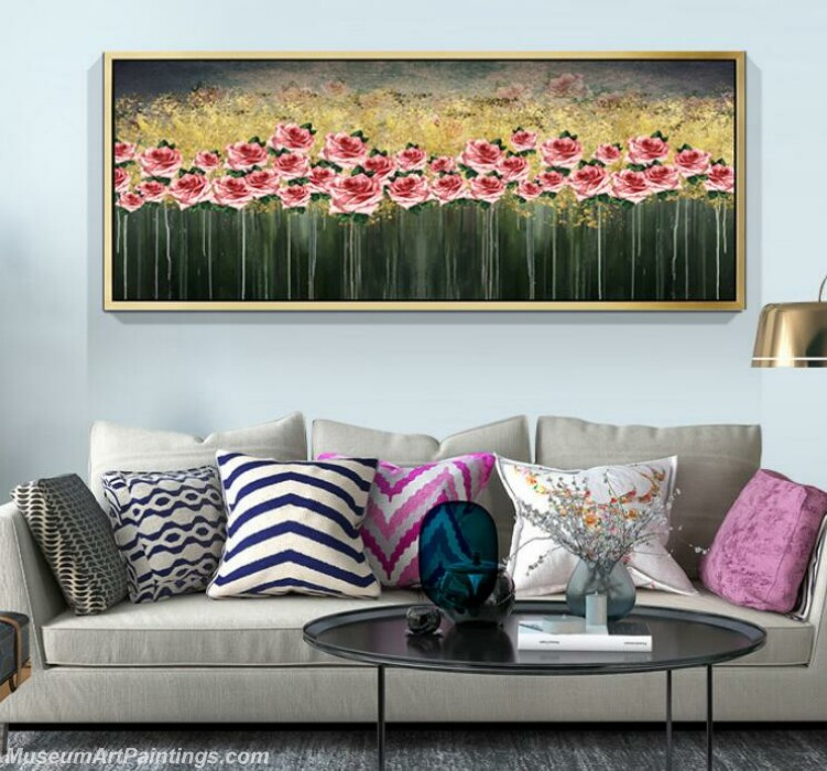 Living Room Paintings for Sale Abstract Flower Painting B513 (2)