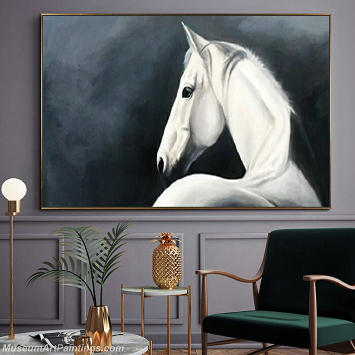 Living Room Paintings for Sale Abstract Horse Painting 01