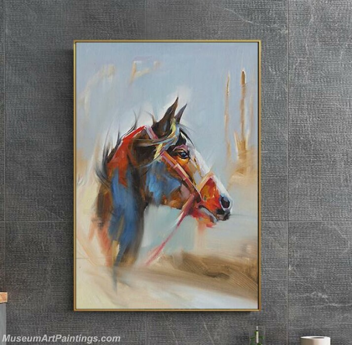 Living Room Paintings for Sale Abstract Horse Painting 02