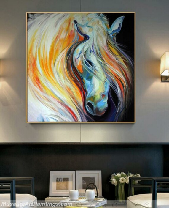 Living Room Paintings for Sale Abstract Horse Painting 03
