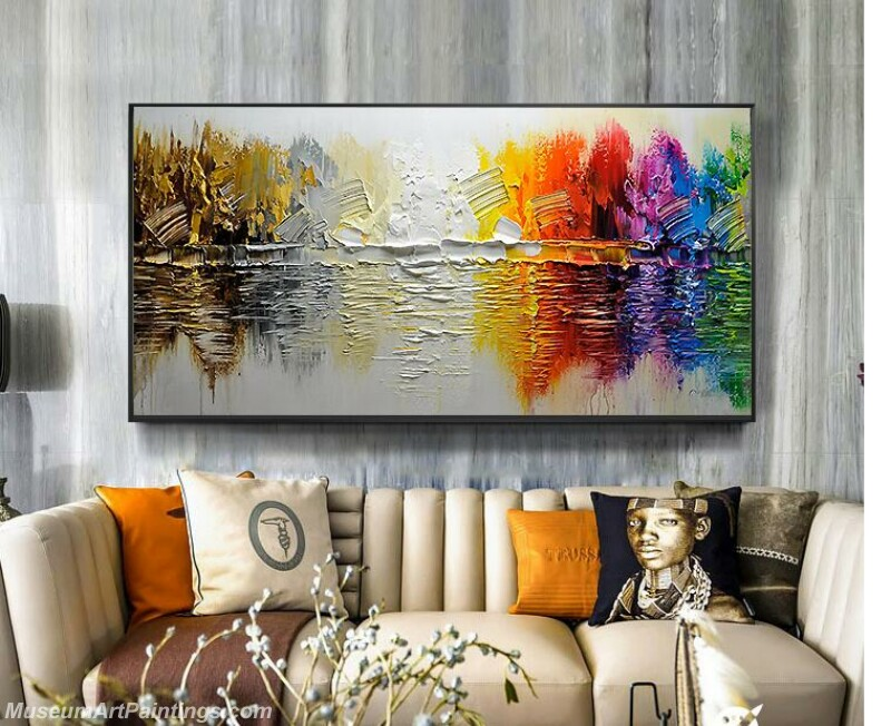 Living Room Paintings for Sale Abstract Tree Painting 02
