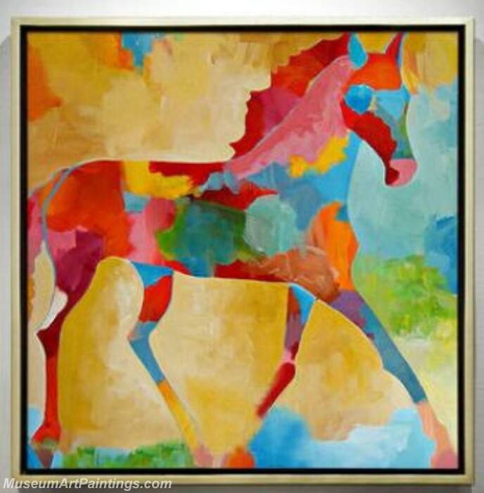 Living Room Paintings for Sale Colorful Horse Painting