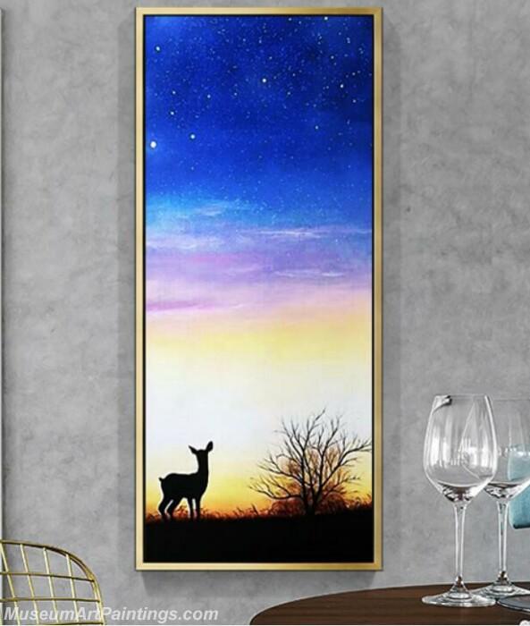 Living Room Paintings for Sale Deer Painting 02