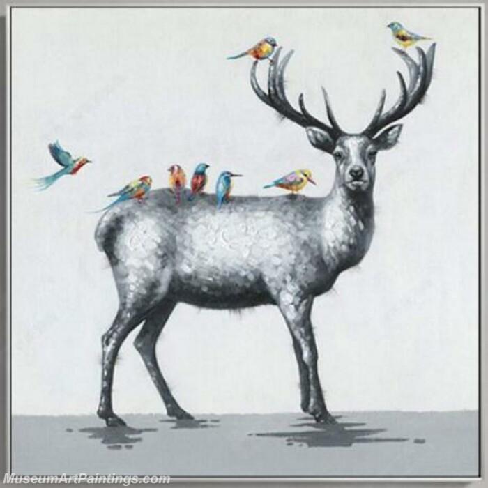 Living Room Paintings for Sale Deer Painting 03