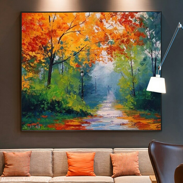 Living Room Paintings for Sale Dream Golden Autumn Painting