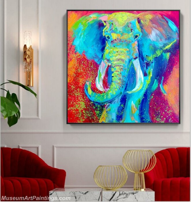 Living Room Paintings for Sale Elephant Painting 02