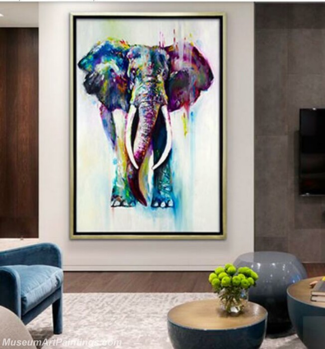 Living Room Paintings for Sale Elephant Painting