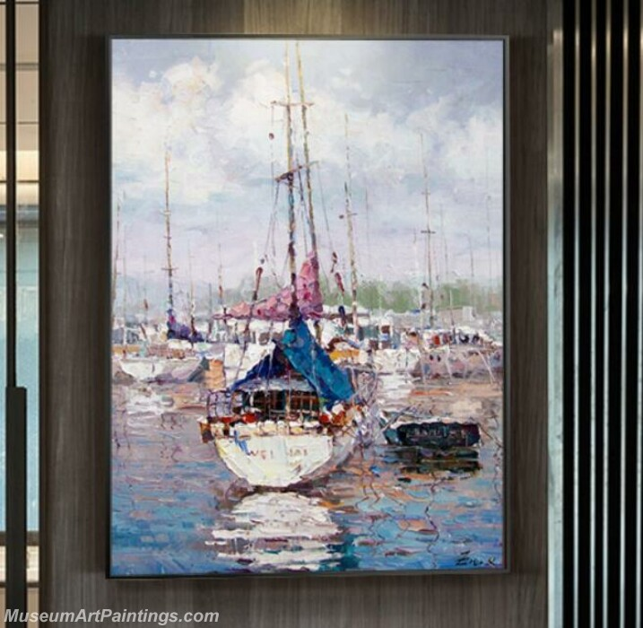 Living Room Paintings for Sale Far Sail Boat Painting