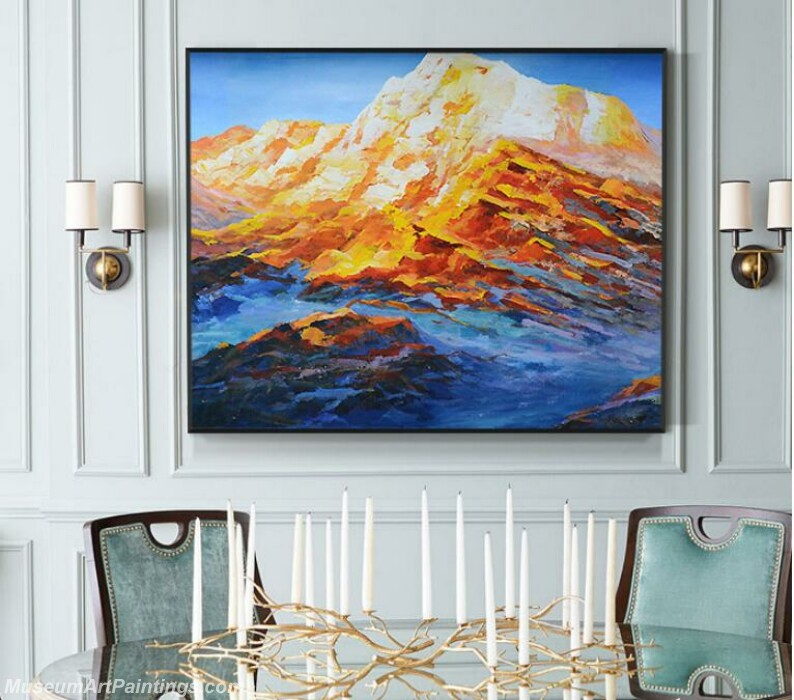 Living Room Paintings for Sale Gold Mountain Painting 02