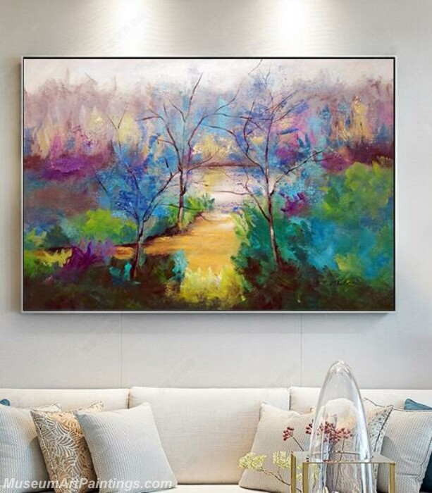 Living Room Paintings for Sale Quiet path Landscape Painting