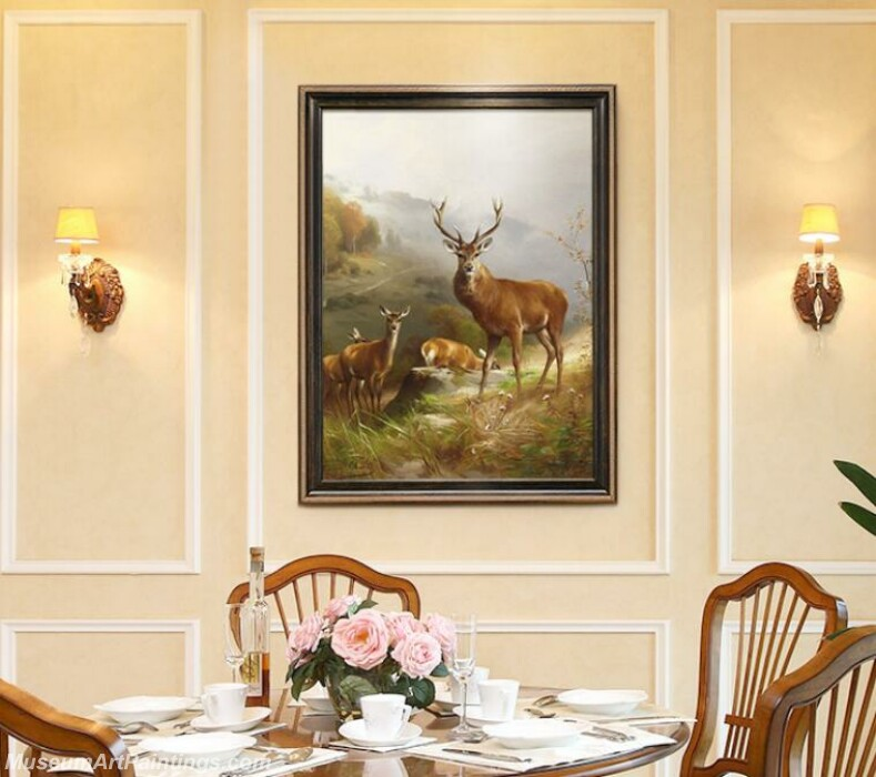 Living Room Paintings for Sale Rich Deer Painting