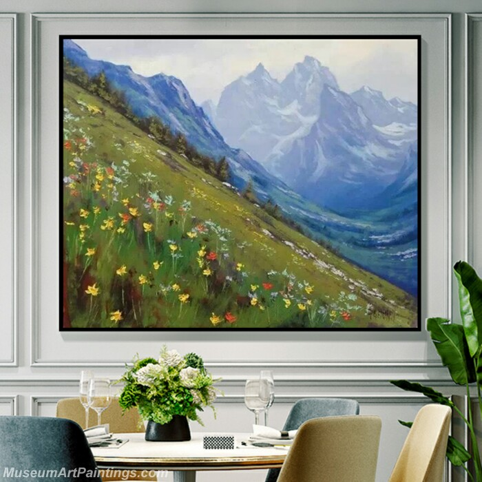 Living Room Paintings for Sale Snow Mountain Landscape Paintings