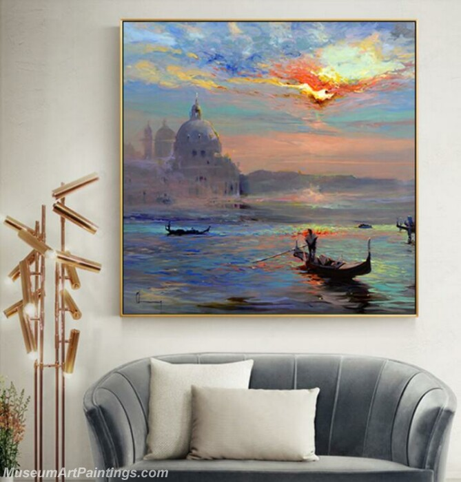 Living Room Paintings for Sale Sunrise Landscape Painting 05