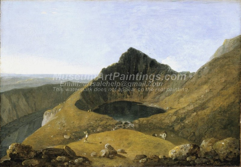 Llyn y Cau Cader Idris Painting by Richard Wilson
