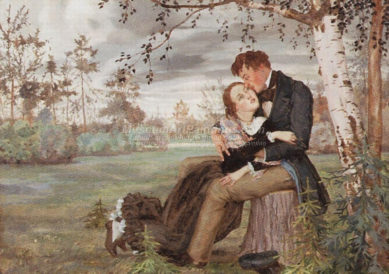 Lovers by Konstantin Somov