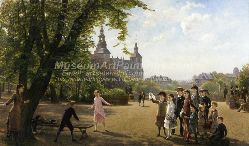 Ludvig Dahls Children playing in Kongens
