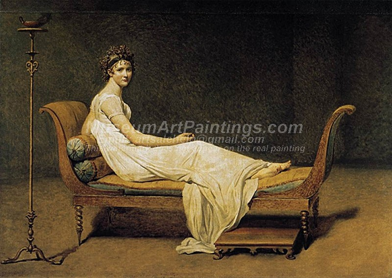 Madame Recamier Painting by Jacques Louis David