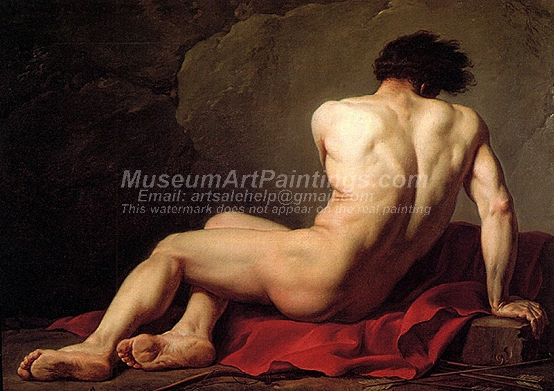 Male Nude Known As Patroclus Painting by Jacques Louis David