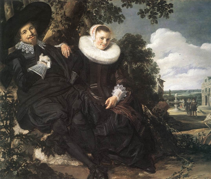 Married Couple in a Garden by Frans Hals