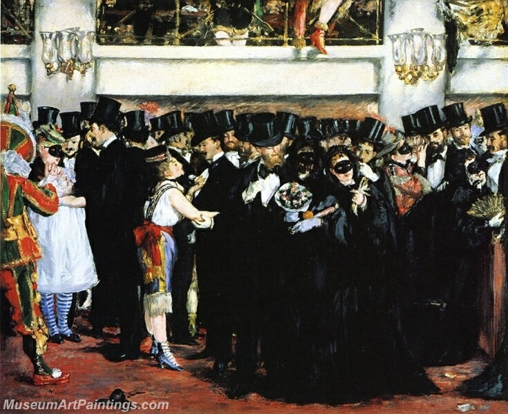 Masked Ball at the Opera Painting