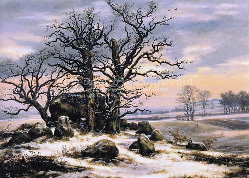 Megalith Grave near Vordingborg in Winter