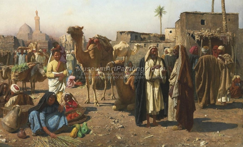 Merchants in a North African Market