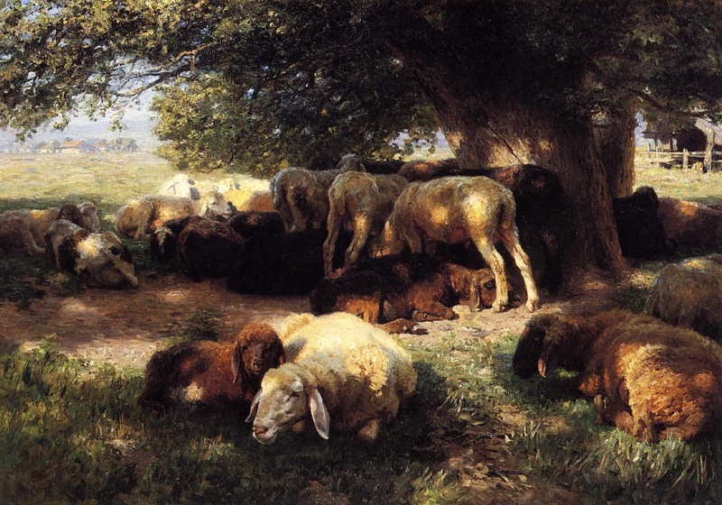 Midday Rest by Herman Hartwich
