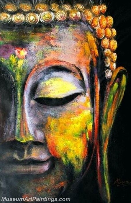 Modern Abstract Art Painting Buddha
