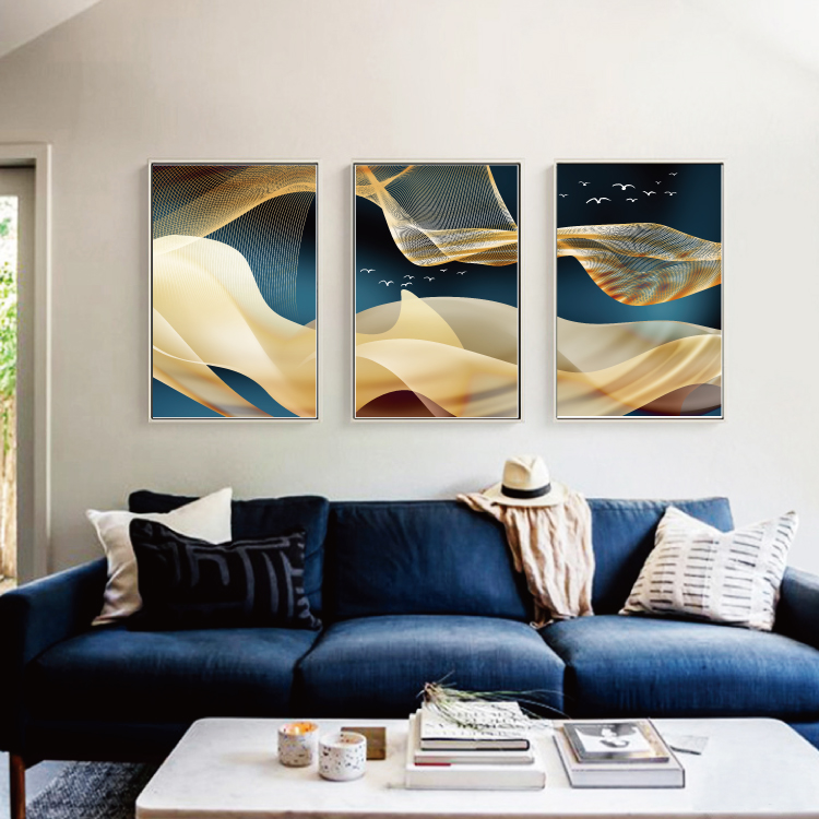 Modern Abstract Art Painting Gold Canvas Prints MAGC047