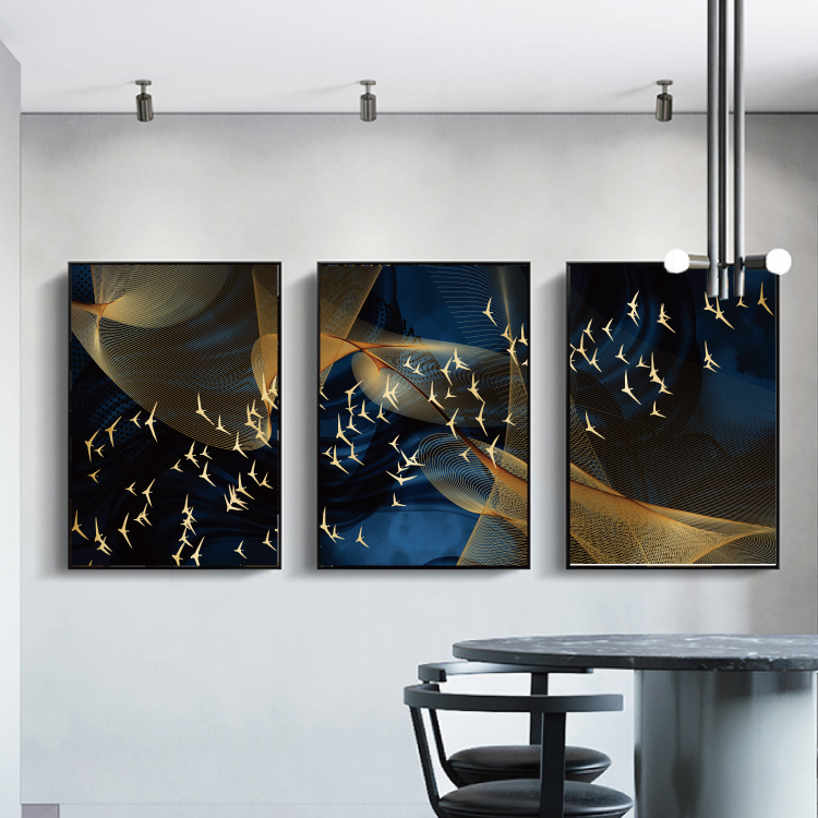Modern Abstract Art Painting Gold Canvas Prints MAGC048