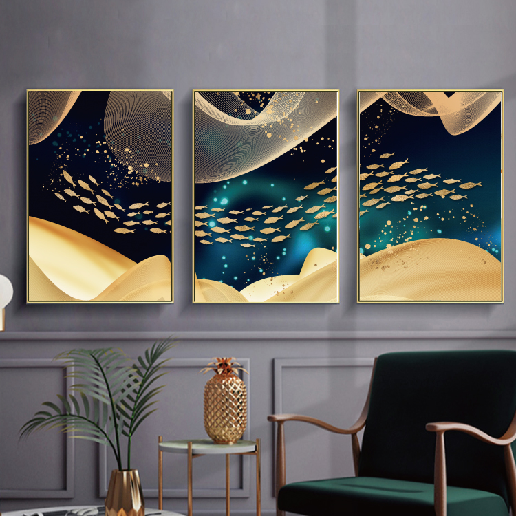 Modern Abstract Art Painting Gold Canvas Prints MAGC050