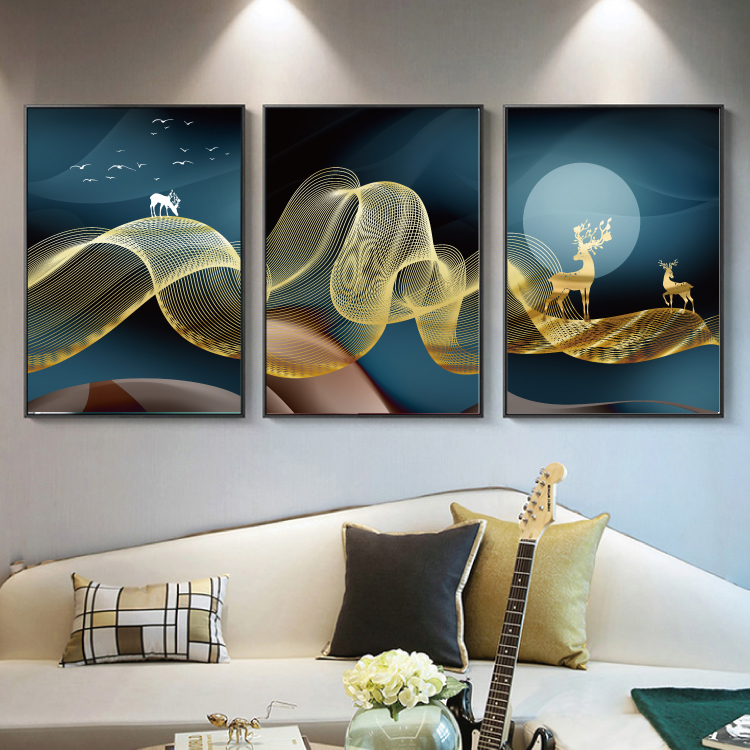 Modern Abstract Art Painting Gold Canvas Prints MAGC052