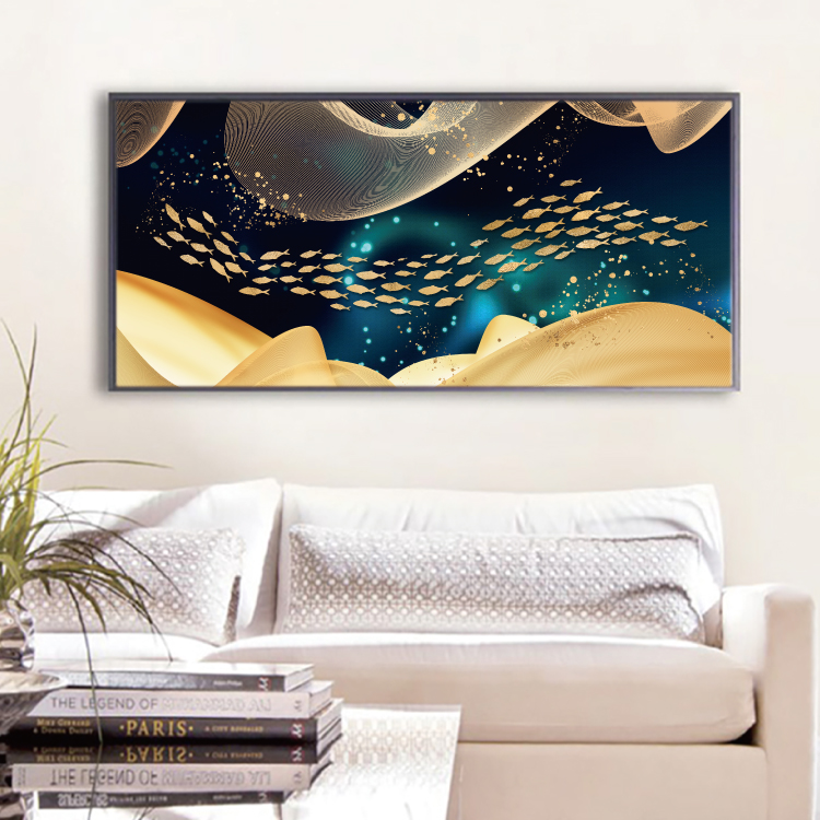 Modern Abstract Art Painting Gold Canvas Prints MAGF01