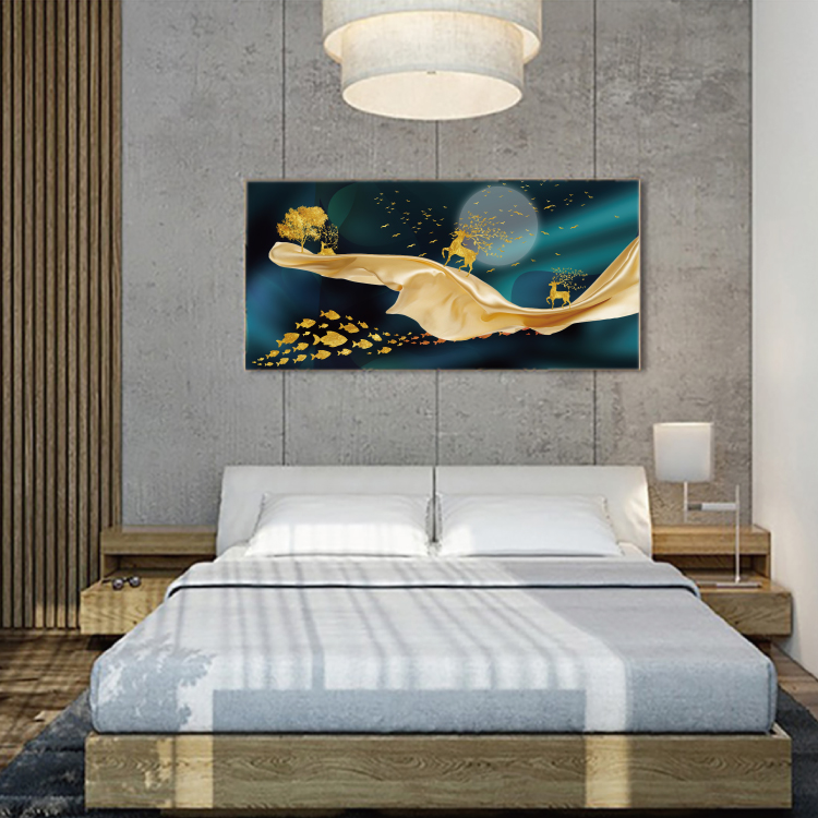 Modern Abstract Art Painting Gold Canvas Prints MAGF03