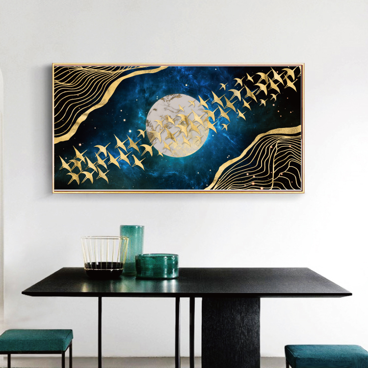 Modern Abstract Art Painting Gold Canvas Prints MAGF04