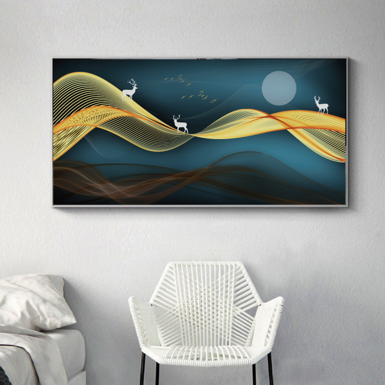 Modern Abstract Art Painting Gold Canvas Prints MAGF05