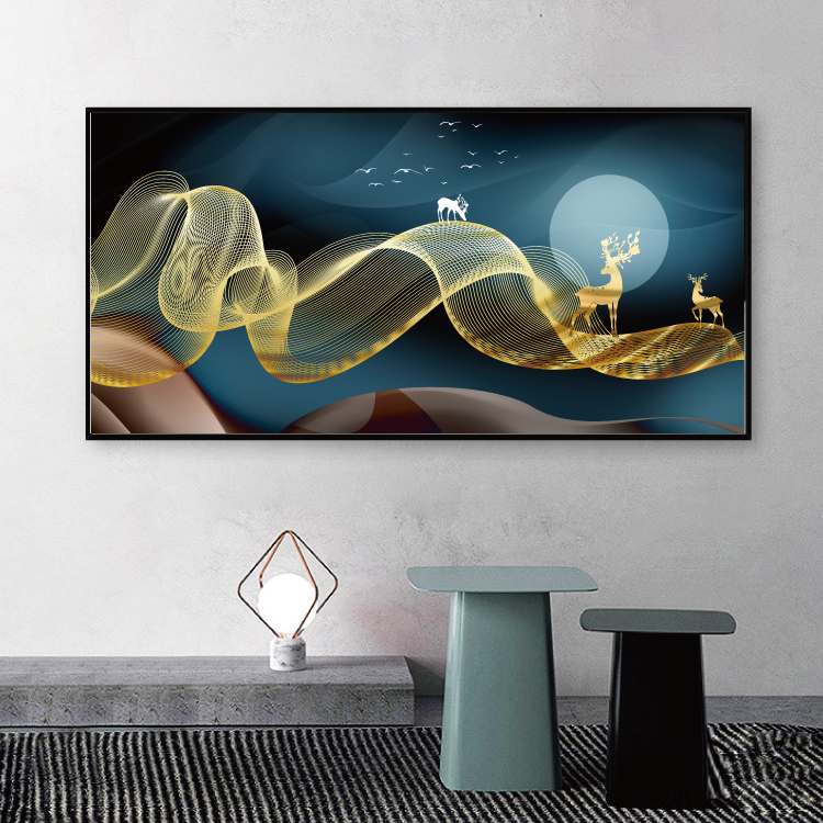 Modern Abstract Art Painting Gold Canvas Prints MAGF06