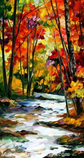 Modern Abstract Art Paintings Landscape Tree MDA016