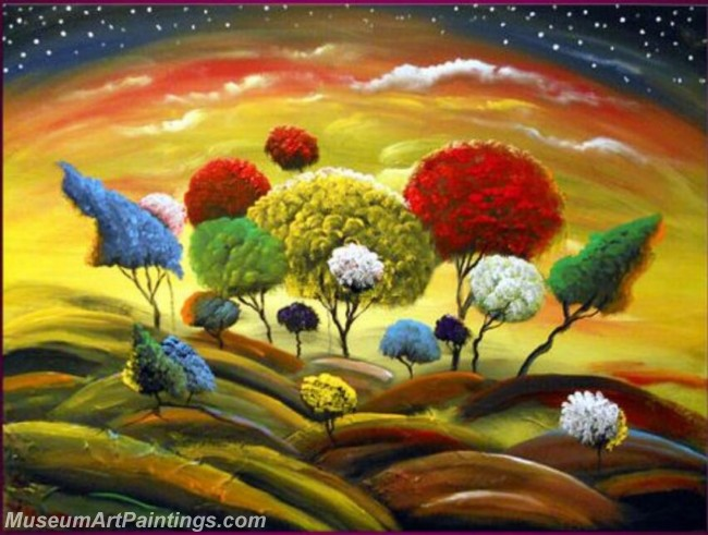 Modern Abstract Art Paintings Landscape Tree MDA026