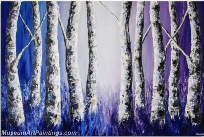 Modern Abstract Art Paintings Landscape Tree MDA029