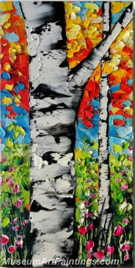 Modern Abstract Art Paintings Landscape Tree MDA031