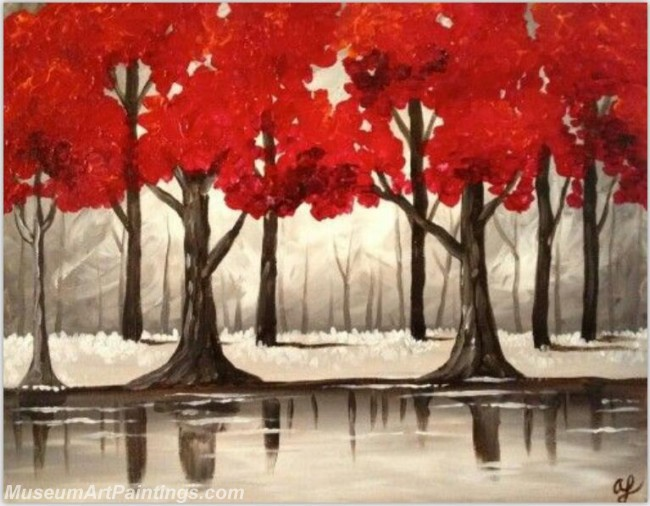 Modern Abstract Art Paintings Landscape Tree MDA034