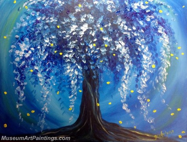 Modern Abstract Art Paintings Landscape Tree MDA04