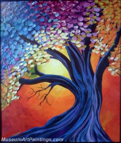 Modern Abstract Art Paintings Landscape Tree MDA041