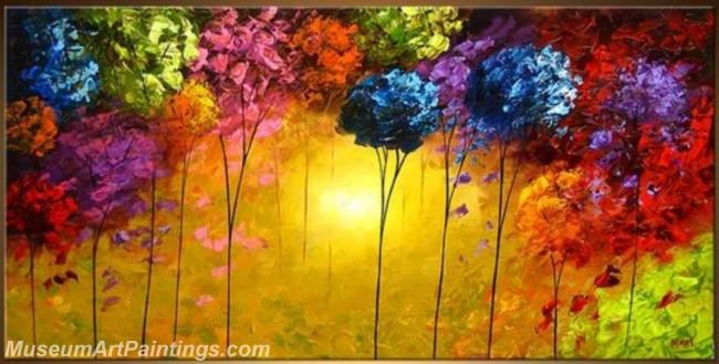 Modern Abstract Art Paintings Landscape Tree MDA044