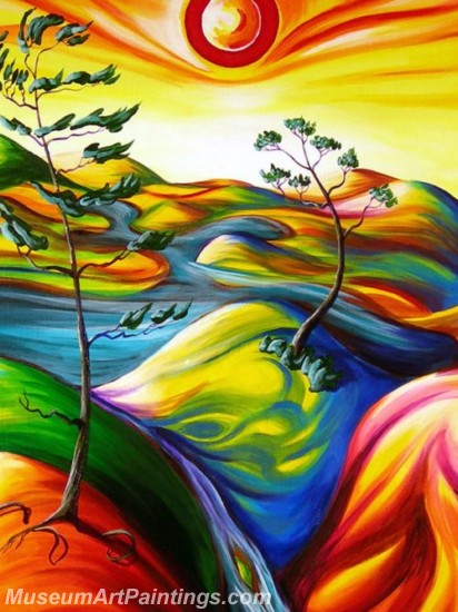 Modern Abstract Art Paintings Landscape Tree MDA08