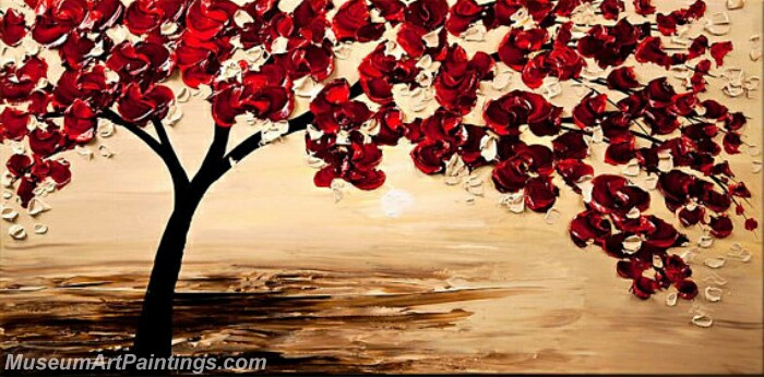 Modern Abstract Wall Art Painting Abstract Flower Tree Landscape Paintings MFL034