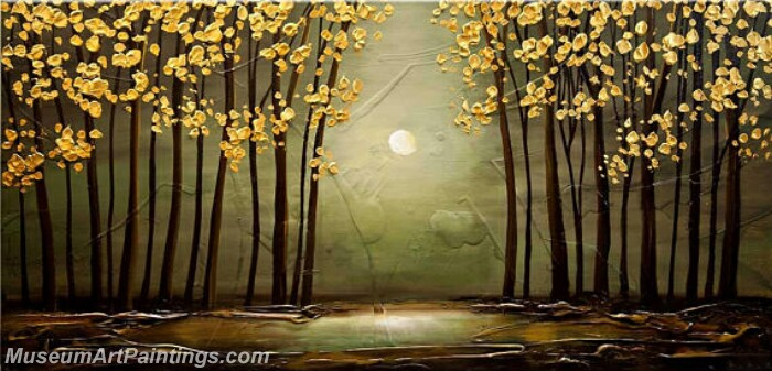 Modern Abstract Wall Art Painting Abstract Flower Tree Landscape Paintings MFL035