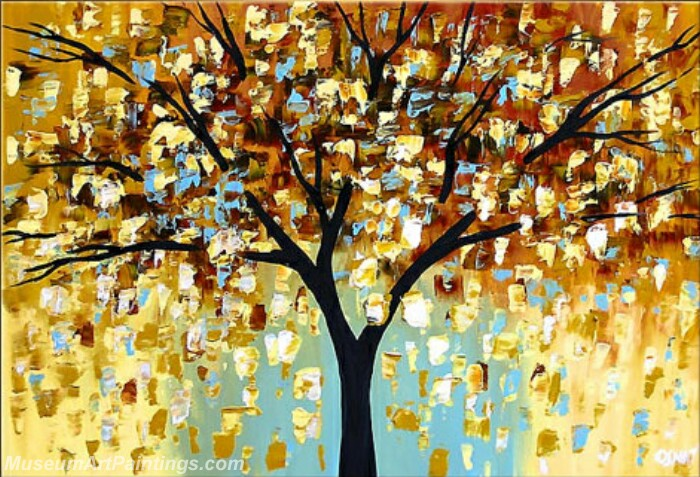 Modern Abstract Wall Art Painting Abstract Tree Landscape Paintings MTL012