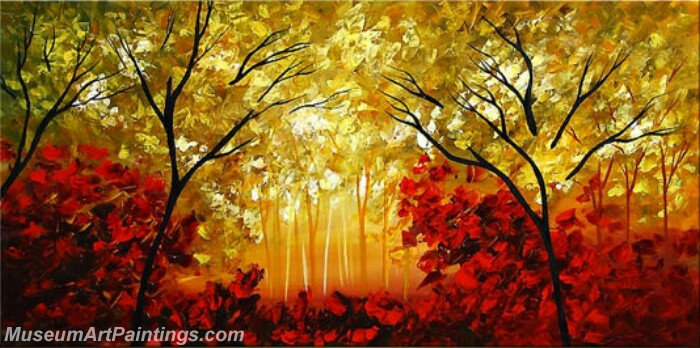 Modern Abstract Wall Art Painting Abstract Tree Landscape Paintings MTL013